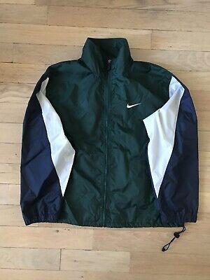 Vintage Nike Swoosh Windbreaker ACG Navy Blue / Forest Green Size M