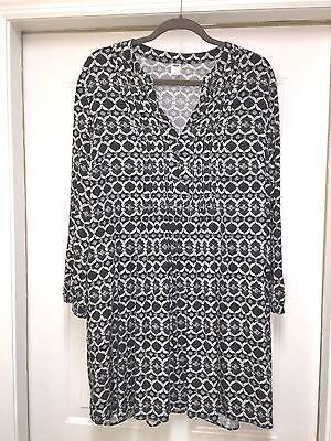 Old Navy Women's White & Black Shirt Dress Size XL  NWOT