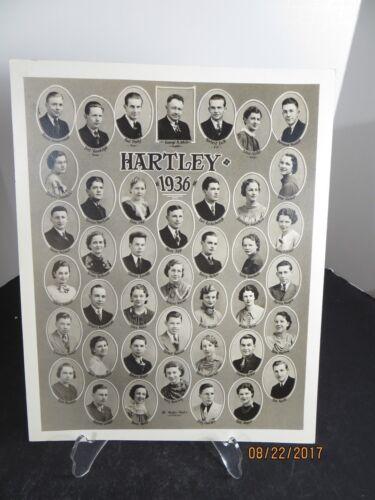 Vintage 1936 Hartley School Class Photo