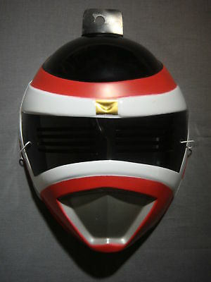 POWER RANGERS RED POWER RANGER HALLOWEEN MASK PVC CHILD SIZE (Red Power Ranger Mask)