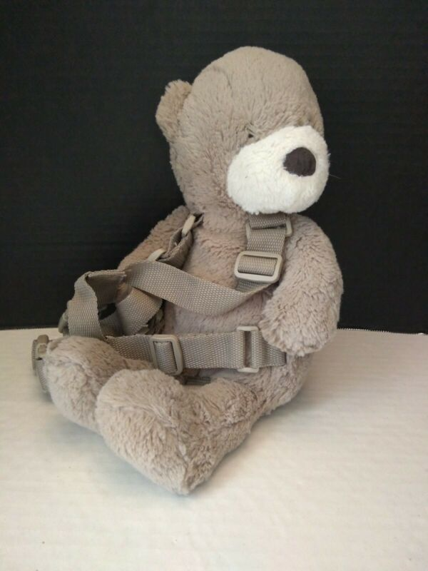 Eddie Bauer gray Teddy Bear plush Backpack Child Toddler Safety Harness