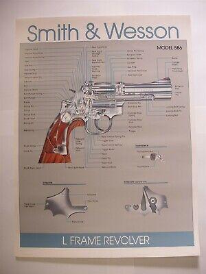 Original Smith Wesson Model 586 L Frame Revolver Paper Poster Advertising Sign