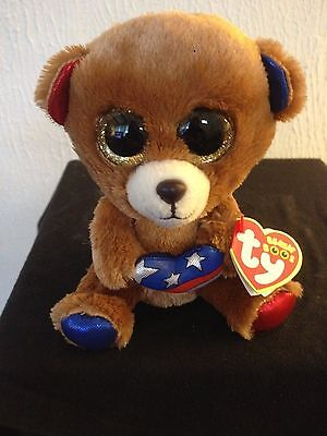 Ty Beanie Boo Boos Stars The Patriot Bear 6  New Mwmt Cracker Barrel Exclusive