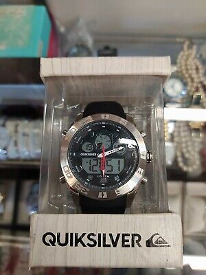 Quicksilver the Fifty50 Mens Surf Black Silicone Strap Watch