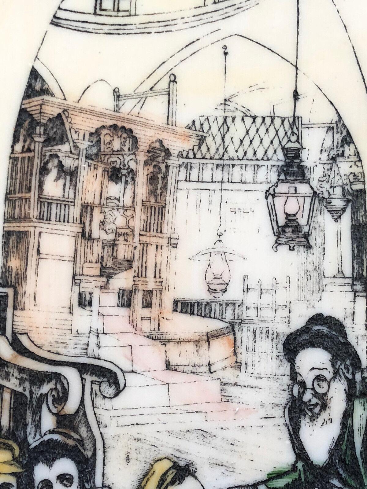 1940s Original Jewish Artist Saul Raskin Engraving Jewish Synagogue School Rebe - $219.99
