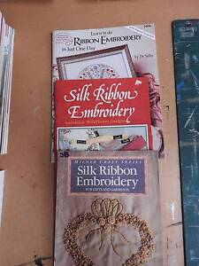 Ribbon Embroidery three (3) books Riverglades Murray Bridge Area Preview
