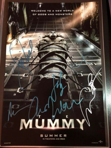 THE MUMMY CAST SIGNED PHOTO 12X18! TOM CRUISE! ANNABELLE WALLIS! AUTOGRAPH!