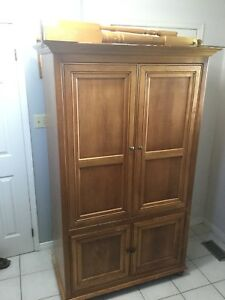 Real wood armoire