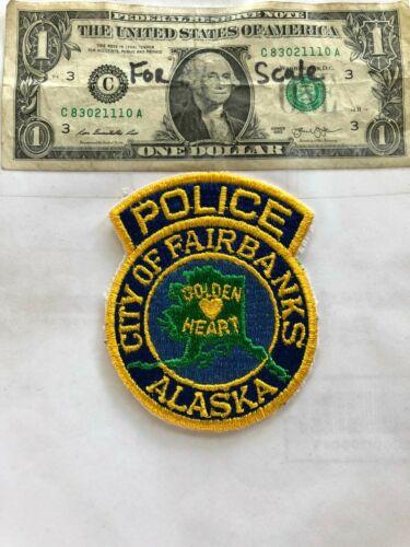 Fairbanks Alaska Police Patch Un-sewn great shape