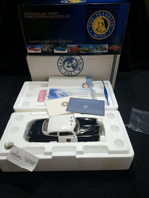 Police/NIB Franklin Mint-Precison Models Police 1951 Hudson Hornet 0015/1500