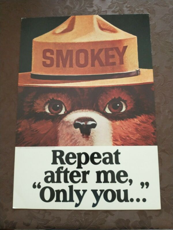 Vintage SMOKEY THE BEAR  Poster 1970
