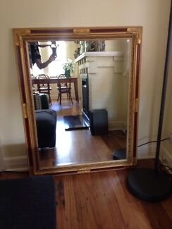 Gold & Burgundy Wall Mirror Waverton North Sydney Area Preview