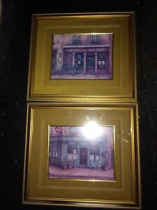 2 French Pictures with Frames