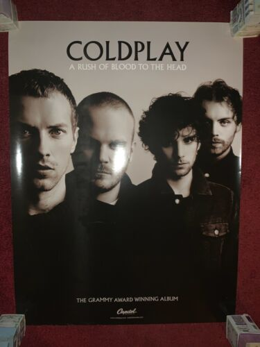 New COLDPLAY A RUSH OF BLOOD TO THE HEAD Promotional Poster Chris Martin Grammy