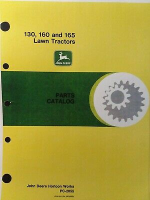John Deere 130 160 165 Lawn Tractor Mower Parts Manual Pc-2055 Garden 9 12.5hp