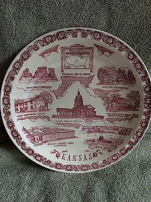 Vernon Kilns Kansas Plate