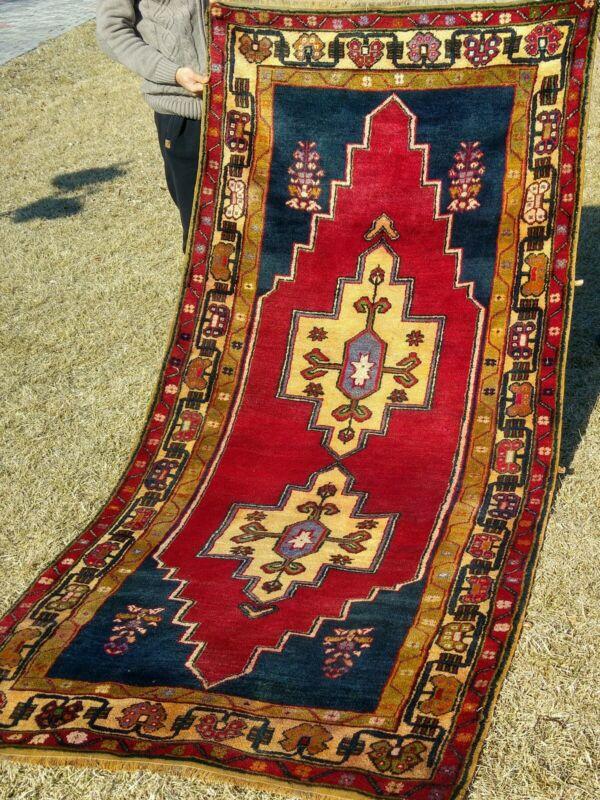 Antique 1900-1930s Turkish Tribal Rug  4