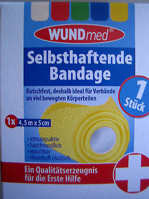 3 x Packungen Selbsthaftende Bandage 3x 4,5mtrX5cm