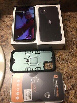 Mint, Unlocked Apple iPhone 11, 128GB, Black,l Accessories, Box,W/Warranty