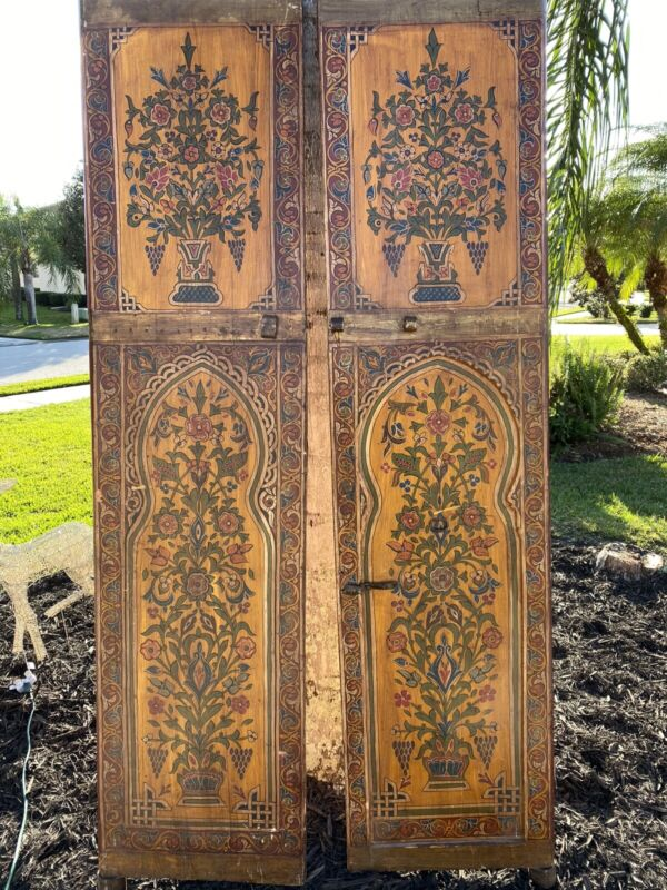 Antique Morrocan Door Hand Painted.