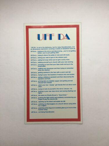 Norwegian Magnet The meaning of UFF DA flexible  # 5385