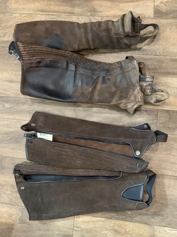 Tresdstep Ireland Suede Half Chaps 16/16 Set Of Two!!