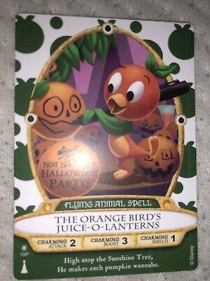 Orange Bird Sorcerers of the Magic Kingdom Card Mickey's Halloween Party 2018