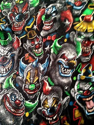 Killer Klowns From Outer Space 1988 Horror Film Evil Creepy Scary Black Clowns  ()