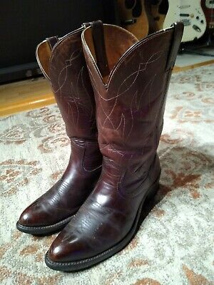 DOUBLE H BROWN LEATHER ROUND TOE SIERRA SOLE COWBOY WORK BOOTS #1324 MEN'S 9.5EE