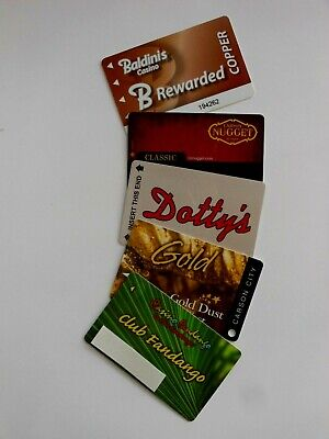 5 CASINO PLAYERS SLOT CARDS CARSON CITY NV BALDINI'S NUGGET DOTTY'S GDW FANDANGO