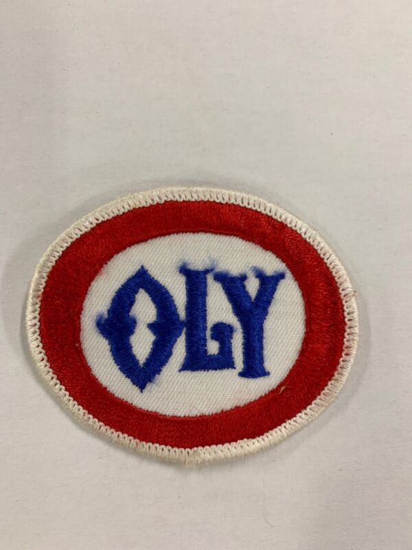 Vintage OLY Beer Olympia Patch: Red, White, and Blue