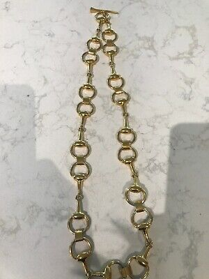 Vintage Gucci Horsebit Gold Plated Necklace