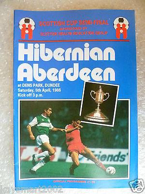 1986 Scottish Cup Semi FINAL - HIBERNIAN v ABERDEEN, 5th April