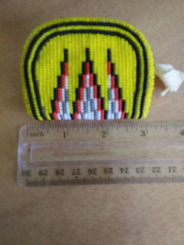 SHOSHONE BEADED COIN POUCH