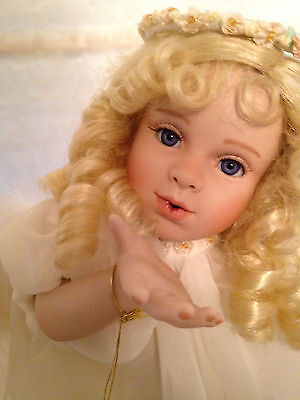 """GEORGETOWN COLLECTION-""""ANGEL KISSES""""-ARTIST'S LIMITED EDITION-PORCELAIN DOLL"""