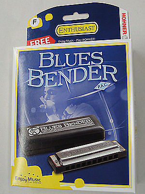NEW HOHNER BLUES BENDER PAC HARMONICA IN KEY OF F WITH FREE SHIPPING on Rummage