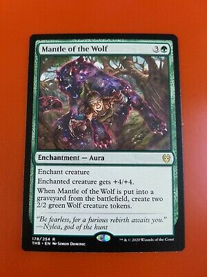 English Theros Beyond Death MTG Ma 1x Mantle of the Wolf Extended Art NM-Mint