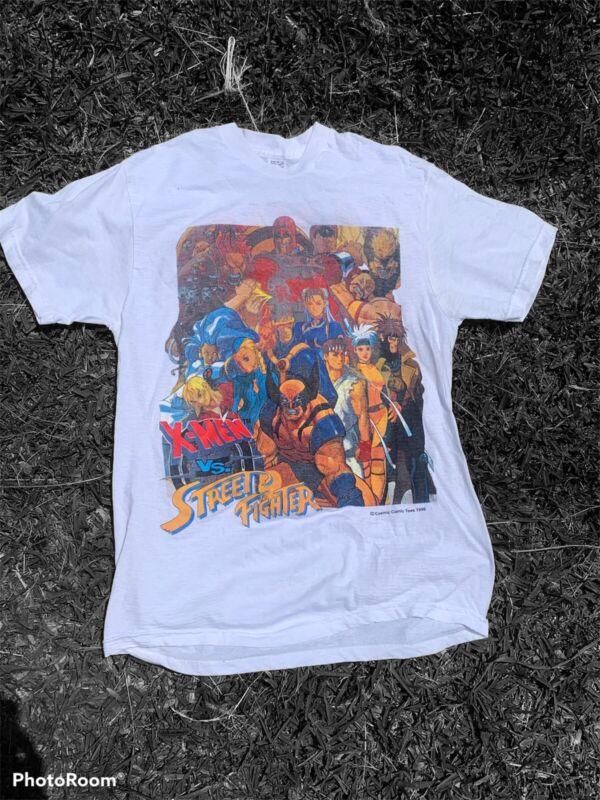 Boot 1996 X-MEN VS STREET FIGHTER PS1 Video Game Promo PlayStation Shirt Medium