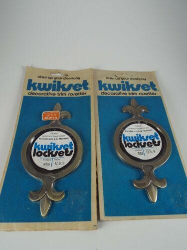"Vintage Kwikset Decorative Trim Rosettes, Mid Century, Door Decor, 1963 2 3/8"""