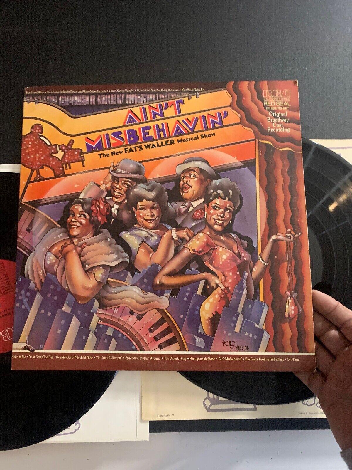 LP RECORD AIN T MISBEHAVIN FATS WALLER MUSICAL RCA 2 RECORD SET ORIGINAL CAST - $9.99
