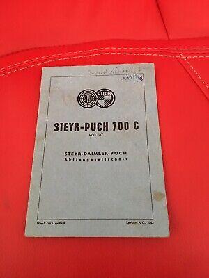 typenschein steyr Puch 700c Bj1963