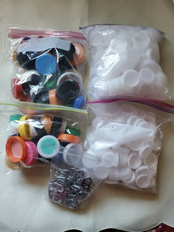 Lots Of Mixed Plastic Bottle Caps,lids For Crafts,arts,projects