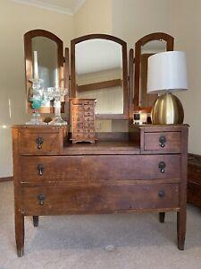 Antique 3 Mirror Dressing Table