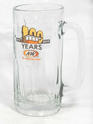 A&W Large Glass Collector Mug - 2019 Multi Colored Mug -100th Anniversary