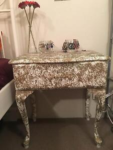 Gold speckled bed side table on sale!! Wollstonecraft North Sydney Area Preview