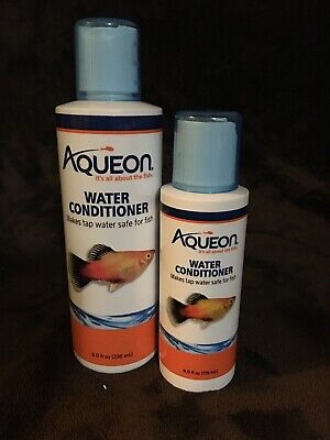 Lot Of 2 Aqueon Aquarium Tap Water Conditioner, Aquarium Water Treatments 8 &4oz