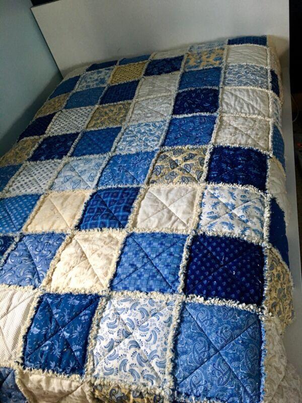 New Full Size Rag Quilt, Handmade!