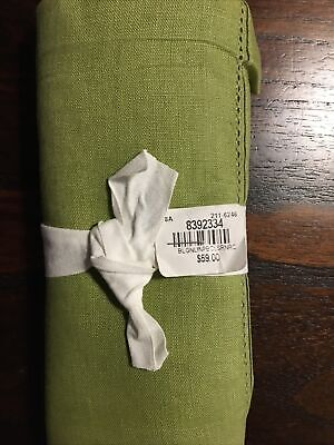 "Pottery Barn Linen Hemstitch Table Runner 16"" x 108"" Cactus new"