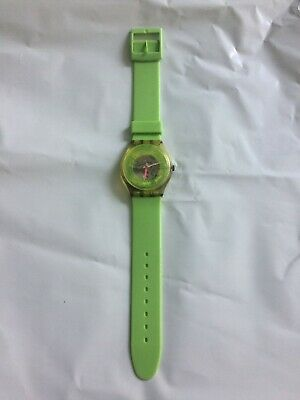 "Vintage Yellow 1985 Swatch ""Techno-Sphere"" Men's Watch - Works"