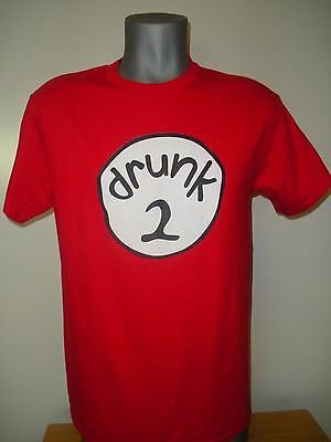 Fraternity Halloween Party (New Authentic Drunk 1 and 2 Shirt Halloween Frat Party Red Tee Shirt)